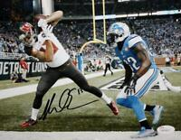 Mike Evans Autographed Tampa Bay 8x10 Touchdown vs Lions Photo- JSA Witness Auth