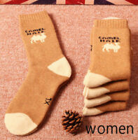 Mens/Womens Winter Warm Couples Camel Outdoor Cold Weather Wool Socks 3Pair