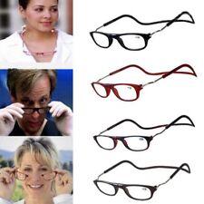 Magnetic Reading Glasses Click Adjustable Reading Googles Eyeglasses Hanging Rim