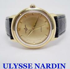 Solid 18k ULYSSE NARDIN Automatic Watch c.1960s in EXLNT* SERVICED* Very RARE