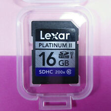 ••• 16GB-SDHC-Karte ••• 300x • Original LEXAR • in Plastik-Box • Class ⑩ •••