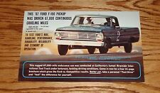 Original 1967 Ford F-100 Pickup Sales Brochure Postcard 67