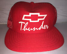 Vtg Chevy Thunder Snapback hat cap MADE IN USA truck camaro chevelle racing nwot