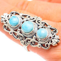 Large Larimar 925 Sterling Silver Ring Size 10 Ana Co Jewelry R61493F