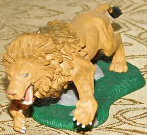 "2005 Lunging Aslan Lion 5"" PVC Figure Disney Chronicles Of Narnia King Toy Rare"