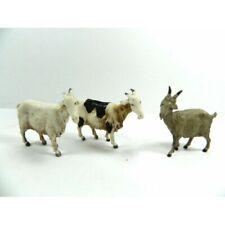 Set 3 Pz Capre Assortite Landi Proporzione Cm 10 - Animali Capra Pastori Presepe