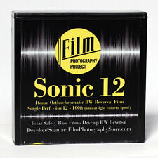 16MM FILM - SONIC12 BW REVERSAL 12 ISO - 100 FT (30m) SINGLE PERF - FRESH