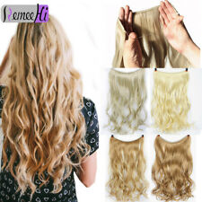 120g Handmade Flip Remy Human Hair Extension Invisible Wire Halo Style Hair Weft