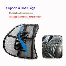Support Dos Soutien Lombaire Coussin Siège Chaise Massage Pour Bureau Voiture