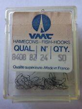 VMC  size 24 fishing hooks box of 50 micro barb spade end
