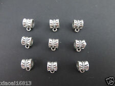 100PCS Big Hole Charms Spacer Beads Dangle Bail Connector Fit European Bracelet