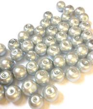 Perline sfuse di vetro rotondi argento