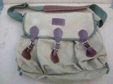 Vintage ORVIS Leather Khaki Canvas Fly Fishing Tackle Box Bait Bag