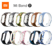 Replacement Soft Silicone Pattern Strap Wristband Bracelet for Xiaomi Mi Band 2