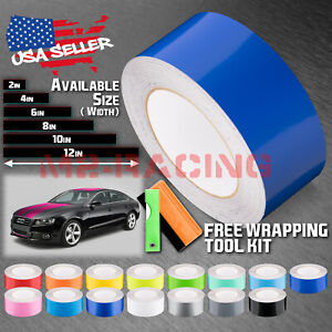 Gloss Color Racing Stripes Vinyl Wrap For Audi A5 Stripe Sticker 25FT / 50FT
