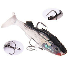 8.5cm Silicone Soft Lures Worm Fishing Baits Bass Trout Shad Bait Crank Swim 15g
