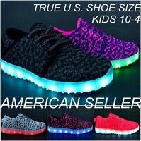 5f82c5189c Kids Light Up Shoes Unisex LED Sneakers Luminous USB Charger Lace Athletic