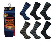 Calcetines Para Hombre Térmicos Gruesos De Rayas Calentadores De Pies Botas De Invierno 2.5 Tog