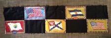 Vintage Tobacco Flannel Felt Flags Burmah Poland Us Argentine