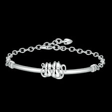 Wholesale 925Sterling Silver Lovely Double Cat Chain Women Bracelet 8 HY389