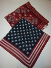 """Lot of 2 patriotic scarfs 20x20"""" pre-owned"""