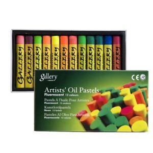 Mungyo Gallery Soft Oil Pastels Set of 12 - Fluorescent Colors