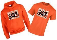 KTM RC 390 inspired Motorbike T-Shirt / Hoodie Gift set Orange