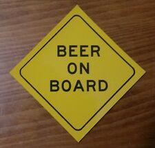 Funny bumper sticker - Beer on board