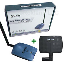 Alfa AWUS036NHV 1500mW USB Wireless Wi-Fi Adapter + APA-M04 7 dBi PANEL ANTENNA
