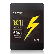 """DREVO X1 PRO Internal SSD 64GB Solid State Drive 2.5"""" SATA3 R 400MB/S W 300MB/S"""