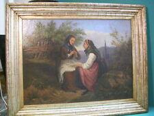 Biedermeier Quadro a olio 1859 ? Alwyn von Pietra Kiel 1848 Vienna 19 bambino