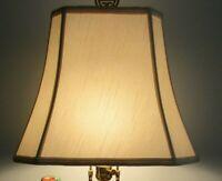 VTG Mid- Century Lamp Shade Cut Corner Rectangle Shape, GUC
