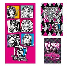 Monster High Strandtuch Set 3-tlg.  Badetuch Strandlaken Handtuch