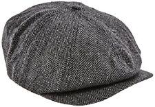 Chapeaux bérets noirs en polyester pour homme