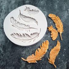 Silicone Feather Fondant Mould Cake Animal Birds Plume Chocolate Baking DIY Mold