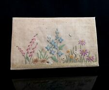 More details for vintage 1930's embroidered chocolate box, floral