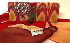 Oscar de la Renta Authentic Evening Clutch Bag with matching Silk Scarf