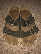 Women's Birkenstock Arizona brown suede soft footbed sandals 9 N / 40 EUC