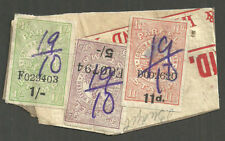 11D 1/- 5/- London & North Western Railway Company Parcel timbres Pièce