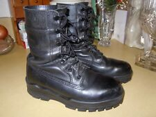 """"""" BATES """" BLACK LEATHER MILITARY COMBAT BOOTS - STEEL TOE - SAFETY - SIZE 6.5 W"""