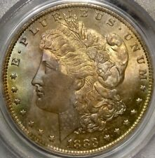 1883/3 O MORGAN SILVER DOLLAR EYE CANDY TONE GEM VERY RARE PCGS MS 67 TOP LOWPOP