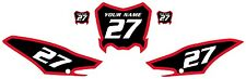 2013-2018 Honda CRF125 Custom Number Plate Backgrounds Red Bold Pinstripe