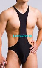 Sexy Mens Wrestling Singlet Thong Gear Bodysuit #420