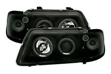 2 FEUX PHARE AVANT ANGEL EYES LED AUDI A3 8L DE 08/1996 A 08/2000 MONOBLOC NOIR