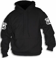 Mens Womens Route 666 Highway To Hell Number of The Beast Biker Hoody Sm - 2XL