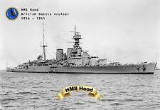 HMS HOOD 1916-1941 * 13 x 19  High Quality Print