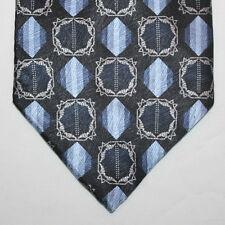 NEW Giorgio Brutini Silk Neck Tie Dark Blue Navy with Blue and Gray Pattern 537