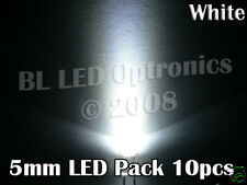 10 x 6k mcd High Intensity 5mm LED Pack DIY PCB Blue
