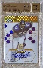 2003 FINEST XFRACTOR AUTO /50 TERRELL SUGGS RC BGS 9.5 POP 2 BOTH OURS REGISTRY