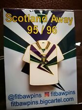 More details for scotland football away 95/96 shirt pin badge new & sealed. rare - banned by sfa